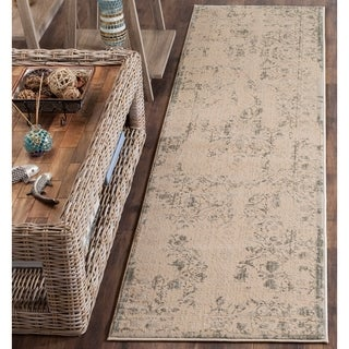 Safavieh Brilliance Vintage Cream/ Light Blue Distressed Runner Rug (2' 2 x 8')
