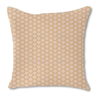 Blossom Drops Chamois Burlap Pillow Double Sided
