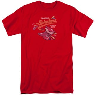 Dubble Bubble/Distress Logo Short Sleeve Adult T-Shirt Tall in Red