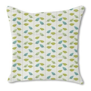 Leaf on Strings Burlap Pillow Double Sided