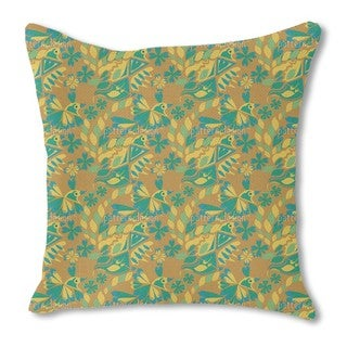 Artistic Bird Burlap Pillow Double Sided
