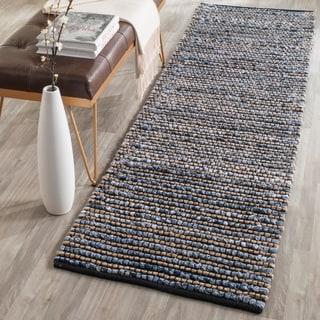Safavieh Hand-Woven Cape Cod Blue Jute Runner Rug (2' x 10')