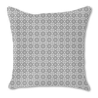 Islamic Tile Burlap Pillow Single Sided