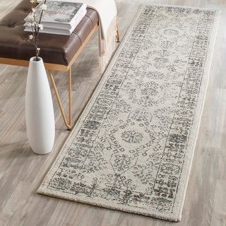 Safavieh Carmel Vintage Beige/ Blue Distressed Runner Rug (2' x 10')