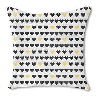 Pure Hearts Burlap Pillow Single Sided