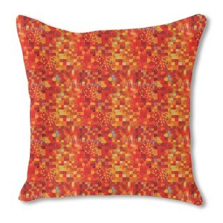 Hot Pixel Pool Burlap Pillow Single Sided