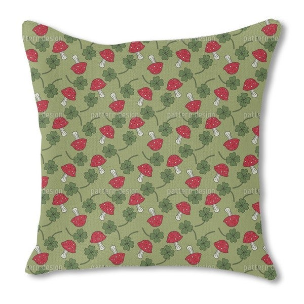 Lucky Charms in Green Burlap Pillow Double Sided