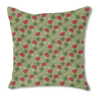 Lucky Charms in Green Burlap Pillow Single Sided