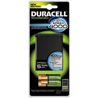 Duracell Rechargeable Ion Speed 4000 Battery Charger Kit