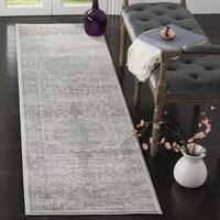 Safavieh Carnegie Vintage Cream/ Dark Grey Distressed Runner Rug