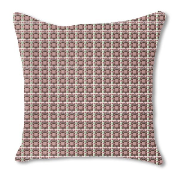 Art Deco Mosaic Burlap Pillow Double Sided