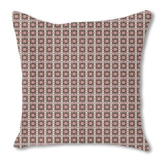 Art Deco Mosaic Burlap Pillow Single Sided