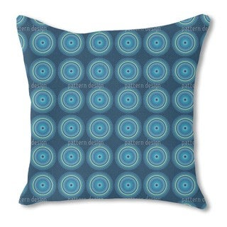 Fidelio Blue Burlap Pillow Double Sided