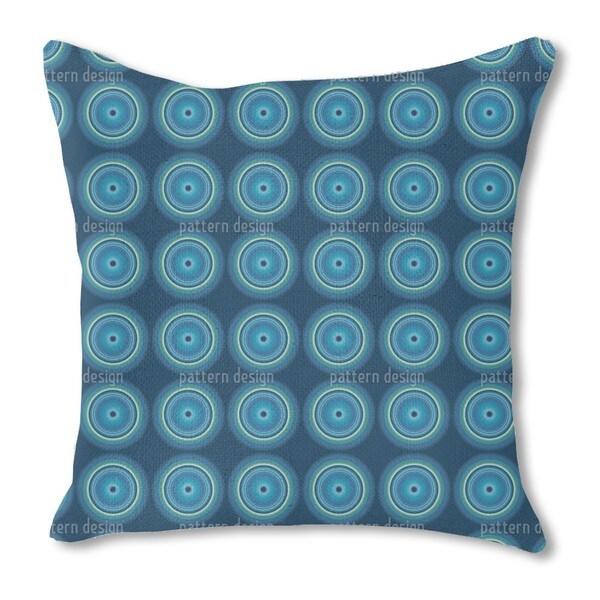Fidelio Blue Burlap Pillow Single Sided