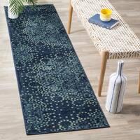 Safavieh Constellation Vintage Blue / Multicolored Viscose Runner Rug - 2' 2 x 8'