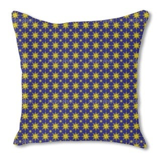 Starry Night Burlap Pillow Double Sided