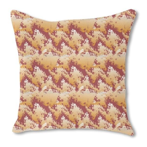 Lava Land Burlap Pillow Double Sided