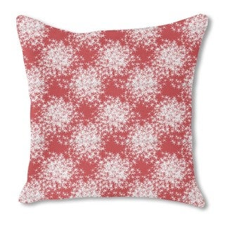 Stars Sparkle on Red Burlap Pillow Single Sided