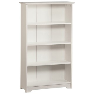 Atlantic White 55-inch 4-section Bookshelf