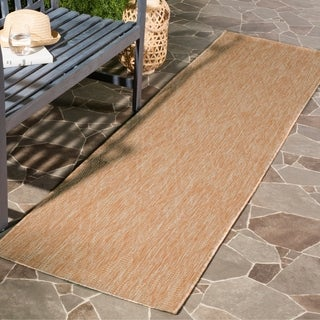 Safavieh Indoor / Outdoor Courtyard Natural / Natural Runner Rug (2' 3 x 8')