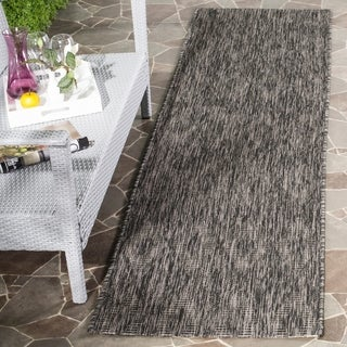Safavieh Indoor / Outdoor Courtyard Black / Black Runner Rug (2' 3 x 8')