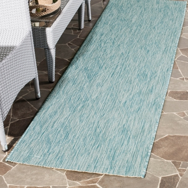 Shop Safavieh Indoor Outdoor Courtyard Aqua Aqua