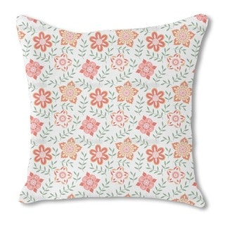 Russian Flower Compliments Burlap Pillow Double Sided