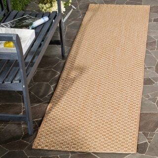 Safavieh Indoor / Outdoor Courtyard Natural / Cream Runner Rug (2' x 8')