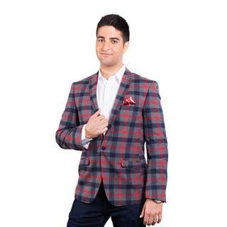 Elie Balleh Men's Milano Italy Cotton 2015 Style Slim Fit Jacket/Blazer|https://ak1.ostkcdn.com/images/products/12665810/P19453026.jpg?impolicy=medium