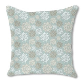 Delicate Ninja Stars Burlap Pillow Single Sided