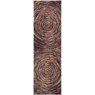 Safavieh Fiesta Shag Abstract Multicolored Runner (2' 3 x 8')