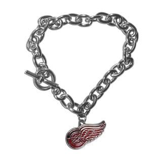 NHL Sports Team Logo Detroit Red Wings Charm Chain Bracelet