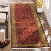 Safavieh Hand-knotted Ganges River Rust / Green Wool Runner Rug - 2'6 x 10'
