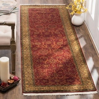 Safavieh Hand-knotted Ganges River Rust / Green Wool Runner Rug (2'6 x 12')