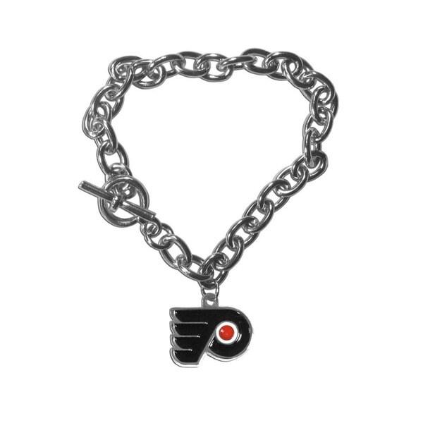 NHL Sports Team Logo Philadelphia Flyers Charm Chain Bracelet