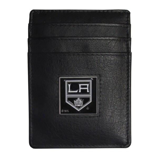 NHL Los Angeles Kings Leather Sports Team Logo Money Clip Cardholder