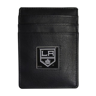 NHL Los Angeles Kings Leather Sports Team Logo Money Clip Card Holder Packaged in Gift Box