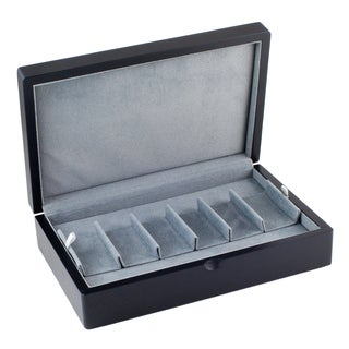 Caddy Bay Collection Black Wooden Watch Storage Case