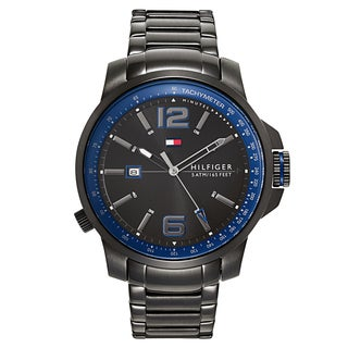 Tommy Hilfiger Men's Black/Blue Stainless Steel Fashion Watch