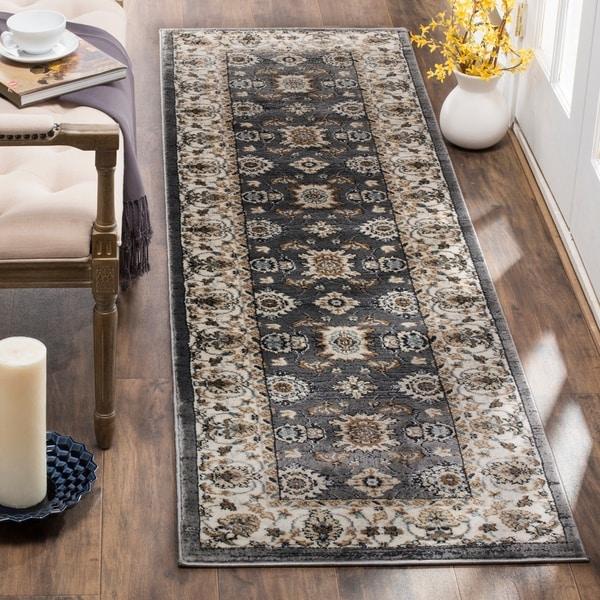 Safavieh Lyndhurst Traditional Oriental Grey/ Cream Runner Rug - 2' 3 x 8'
