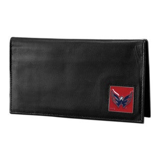 NHL Washington Capitals Sports Team Logo Deluxe Leather Checkbook Cover
