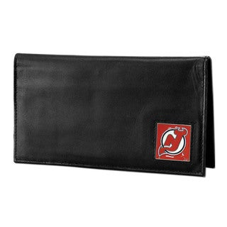NHL New Jersey Devils Deluxe Leather Checkbook Cover