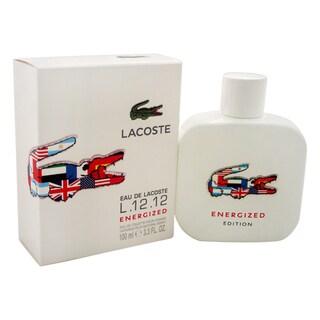 Lacoste Eau de Lacoste L.12.12 White Energized Men's 3.3-ounce Eau de Toilette Spray