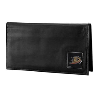 NHL Anaheim Ducks Deluxe Leather Checkbook Cover