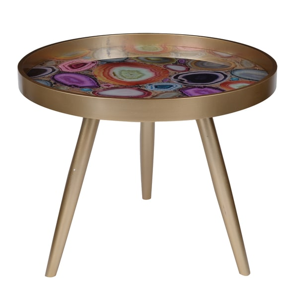 Livonia Multicolored 24-inch x 19-inch Side Table