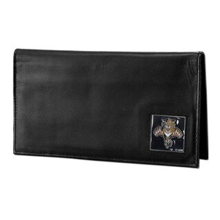 NHL Florida Panthers Sports Team Logo Deluxe Leather Checkbook Cover