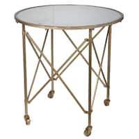 Tennyson Goldtone Metal/ Glass Table