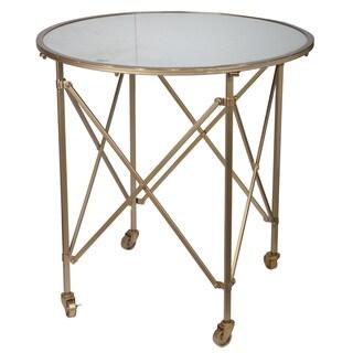 Tennyson Goldtone Metal/ Glass Table