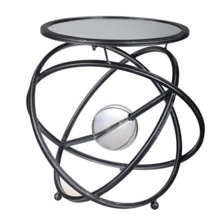 Black Metal and Glass Sagan Spheres Side Table