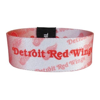 NHL Detroit Red Wings Multicolored Fabric Sports Team Logo Stretch Bracelets
